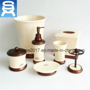 Chrome Finish and Porcelain Hotel Bathroom Accessories Set pictures & photos