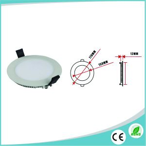 Competitive Price 12W Ultra Slim Round LED Panel Ce/RoHS pictures & photos