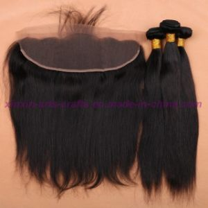 8A Full Frontal Lace Closure 13X4 with Bundles Straight Malaysian Virgin Hair with Closure Cheap Ear to Ear Lace Frontal Closure pictures & photos