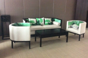 Modern Hotel Restaurant Living Furniture Wooden Fabric Sofa pictures & photos
