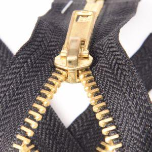 No. 5 5# O/E Golden Brass Zipper Metal Zipper pictures & photos