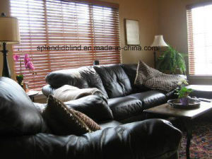 50mm High Profile Headrail Wooden Blinds (SGD-W-514) pictures & photos