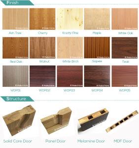 Modern Veneer Flush Interior Composite Wooden Door (WDM-050) pictures & photos