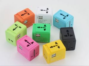 Colorful EU Au UL Us Universal Travel Wall Adapter USB Wall Charger for Mobile Phone Tablet PC pictures & photos