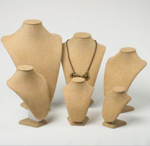 Yellow Linen Jewelry Display Busts for Necklace Display pictures & photos