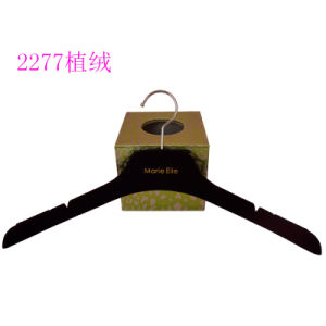 No Slip 43cm Custom Brand Fashion Shop Display Male Flocking Hanger pictures & photos