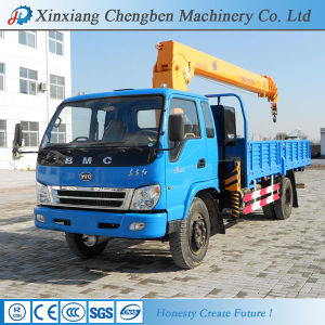 Lorry Loading 6.3t Truck Mounted Crane with Cargo Body pictures & photos