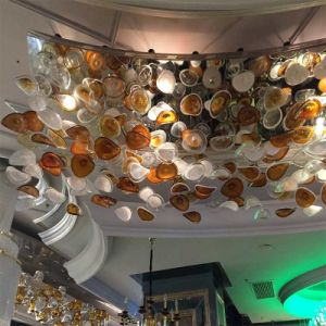 Hotel Decorative Glass Hanging Broken Colour Pendant Lamp pictures & photos
