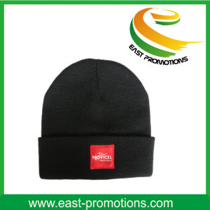 Winter Knitted Beanie Hat with Custom Logo Embroidery pictures & photos