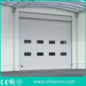 Automatic Thermal Insulated Motorized Commercial Overhead Sectional Garage Door pictures & photos