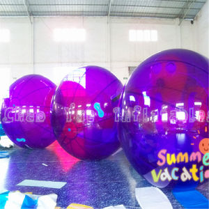 Purple 2m PVC Inflatable Walking Water Ball for Water Sports pictures & photos