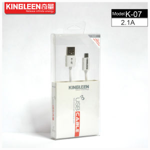 Kingleen Model K-07 Micro Data Cable 1.2m 5V2.1A   for Samsung/HTC pictures & photos