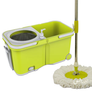 Hand Press 360 Easy Double Device Spin Mop with Wheels Easy to Move pictures & photos