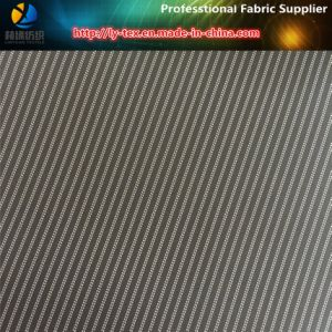 Black Sleeve Lining Woven Fabric, Polyester Stripe Suit Lining Textile Fabric (S34.36) pictures & photos