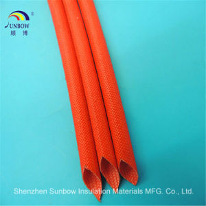 Flame Resistance Silicone Resin Fiberglass Sleeving for Wire Harness pictures & photos