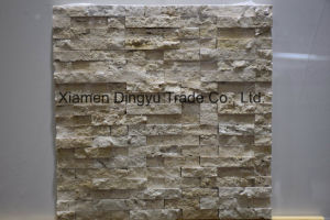 Travertine Tumbled Marble Mosaic Flooring Tile in 5/8 X 5/8 ′′ pictures & photos