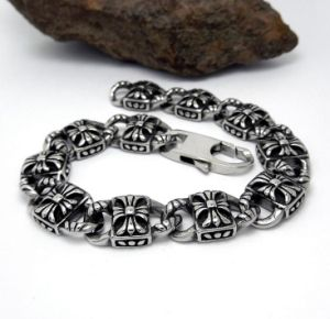 Silver Color Men Link Bracelets Fashion Accessory Stainless Steel Jewelry pictures & photos
