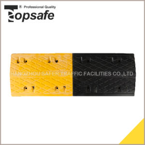 Rubber Speed Hump with Cat Eyes in Yellow and Black Color pictures & photos