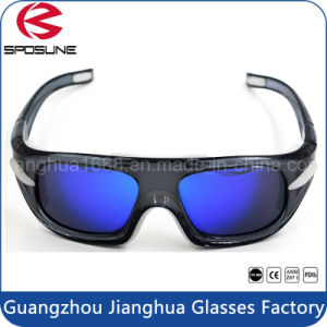 Fashion Custom Brand Logo Bifocal Vintage Basketball Eyewear Glasses Coolest Black Frame and Blue Lens Eye Safety Goggles pictures & photos