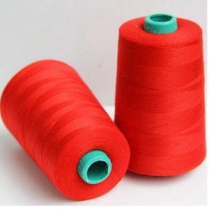 Ne 20/2 3000 Yards Per Cone 100% Spun Polyester Yarn pictures & photos