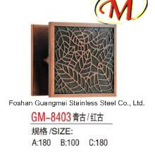 Stainless Steel Carving Door Handle with Titanium Finish pictures & photos
