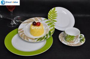 Natural Cream Color Round Shape 20PCS Plate Set pictures & photos