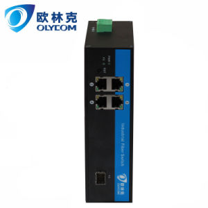 Gigabit Ethernet One Fiber+ Four UTP Industrial Fiber Switch with IP30