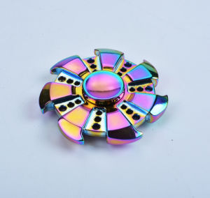 Plating Colorful Rainbow Wind and Fire Wheel Hand Fidget Spinner pictures & photos