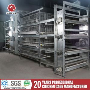 H Type Galvanized Poultry Farm Cage for Broiler Chickens pictures & photos