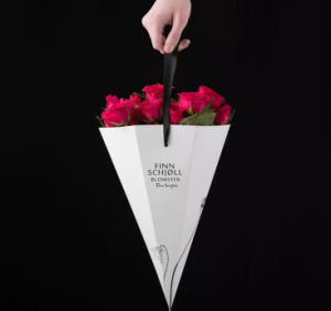 Cone-Shape Printing Flowers Packaging Bag pictures & photos