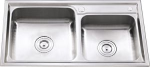L5605 S. S Stretching Double Bowl Sink pictures & photos