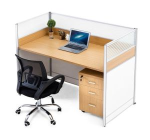 Single Seat Straight Desk Workstation Cluster Staff Office Partition (HX-NCD322) pictures & photos