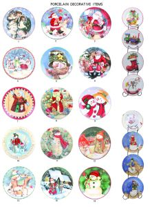 4PC Porcelain Decorative Plate (TS019-008) pictures & photos