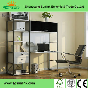 Metal Bookcase Steel Frame Furniture Wooden Furniture pictures & photos