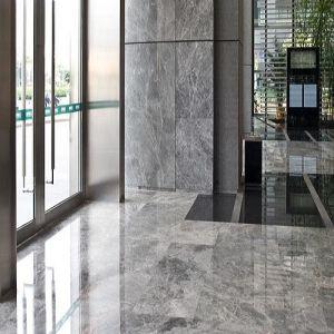 Silver Sable Marble Floors for Bathroom/Hotel