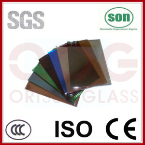 4mm-12mm Tinted Reflective Glass with CE and ISO9001 Certificate