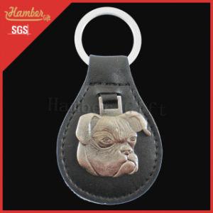 Dog Pattern Custom Leather Keychain