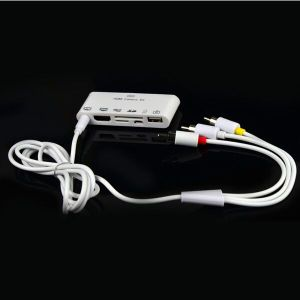 HDMI AV TV-out Cable Dock USB Connection Kit Micro SD Card Reader for iPad 1/2/3/iPhone (OM-P904) pictures & photos