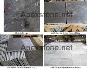 Black Slate Tiles/ Cut-to-Size / Paving Tile