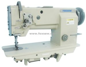 Single Needle Compound Feed Lockstitch Sewing Machine pictures & photos