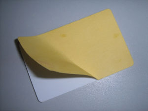 Plastic Adhesive Blank PVC Card/ (CR80) pictures & photos