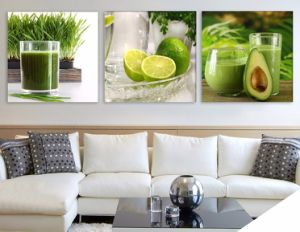 3 Piece Modern Wall Art Printed Painting Fruits Painting Room Decor Framed Art Picture Painted on Canvas Home Decoration Mc-238 pictures & photos