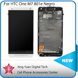 Touch Screen Digitizer LCD Display Screen Assembly with Bezel Frame for HTC One M7