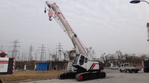Telescopic-Boom Crawler Crane Capacity 35 Ton With Five Boom (SMQ350A)