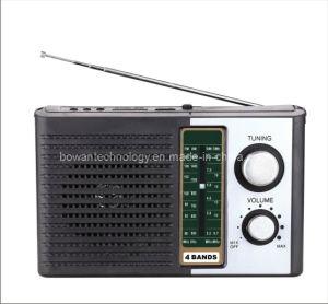 FM/AM/SW1-2 4 Band Radio Receiver MP3 Player (BW-F10U)