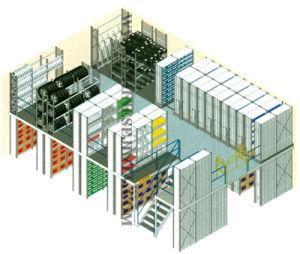 Mezzanine Rack, Attic Rack, Storage Rack with Stairs (JT-C09) pictures & photos