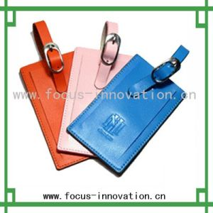 Colorful Leather Luggage Tags (F2310)