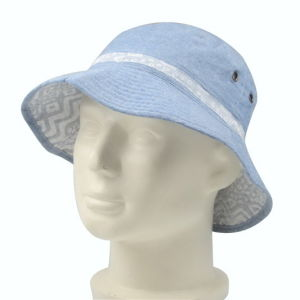 Chambray Fabric Reversible Fishman Bucket Cap pictures & photos