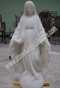 White Marble Virgin Mary Statue (sk-2125) pictures & photos