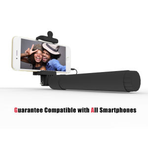 Self Portrait Monopod Extendable Wired Selfie Stick with Remote Phone Holder pictures & photos